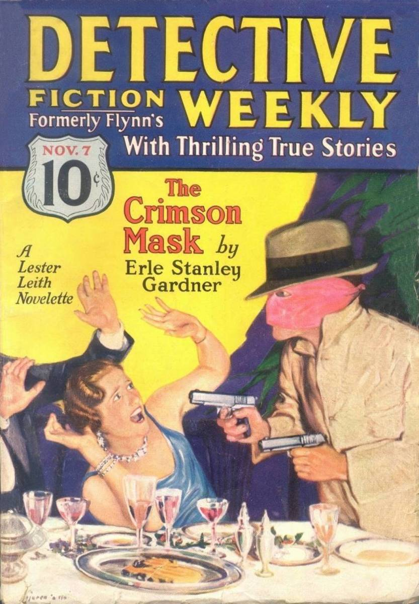 Erle Stanley Gardner in 'Detective Fiction Weekly'