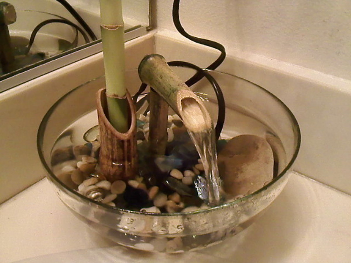 Indoor Bamboo Fountain Making
