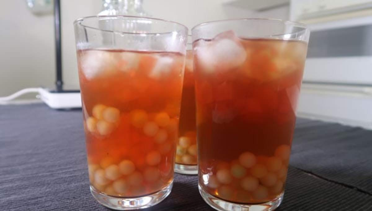 In the Philippines, gulaman at sago is a popular way to cool off.
