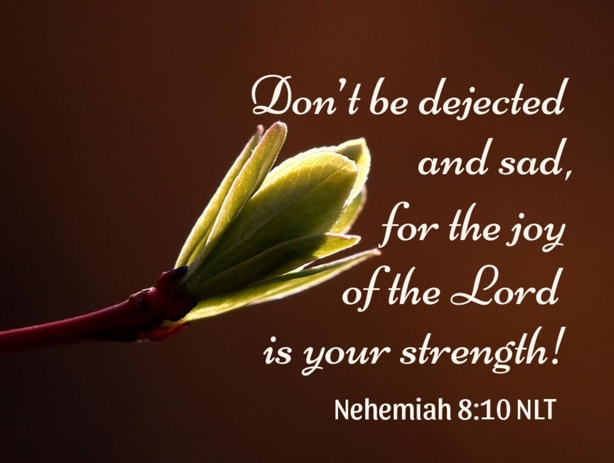 The joy of the Lord is your strength.