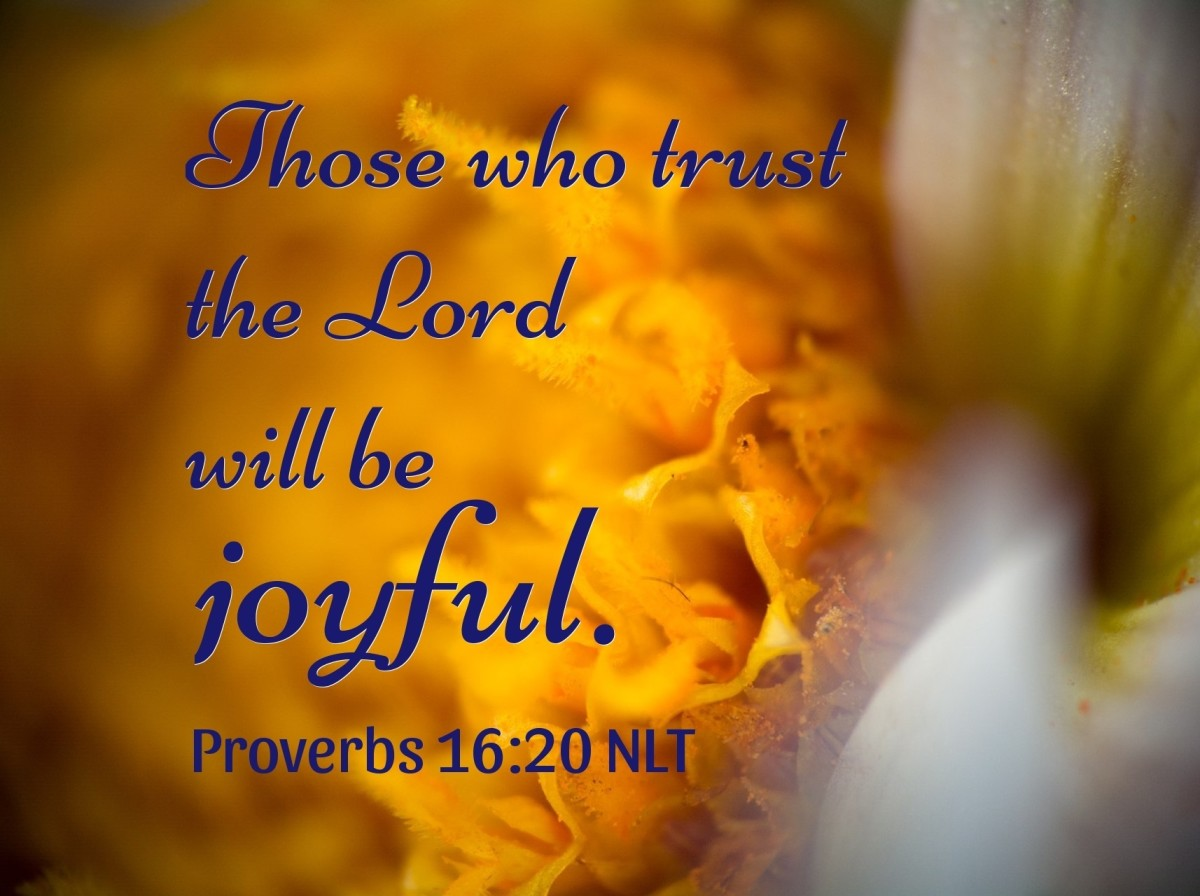 Those who trust in the Lord will be joyful.
