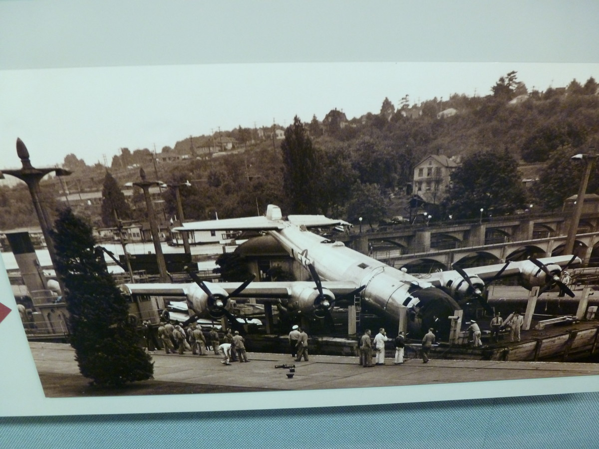 Even a B-29 can lock through! (Picture from Visitor's Center)