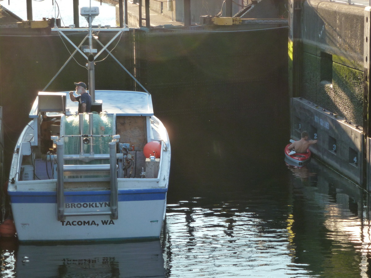 Two boats eagerly await their release from lockdown.