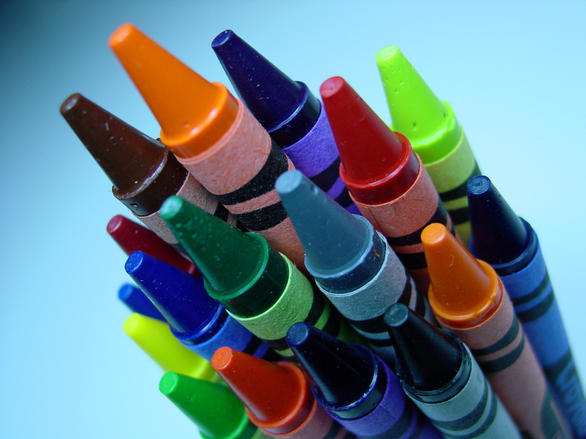 A basic set of crayons will get you through most elementary school lessons.