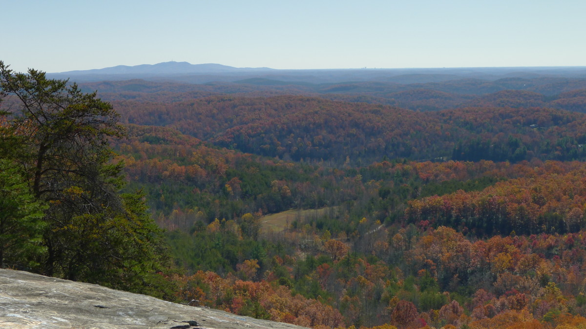 Paris Mountain (left) and Greenville (center) can be seen on the horizon