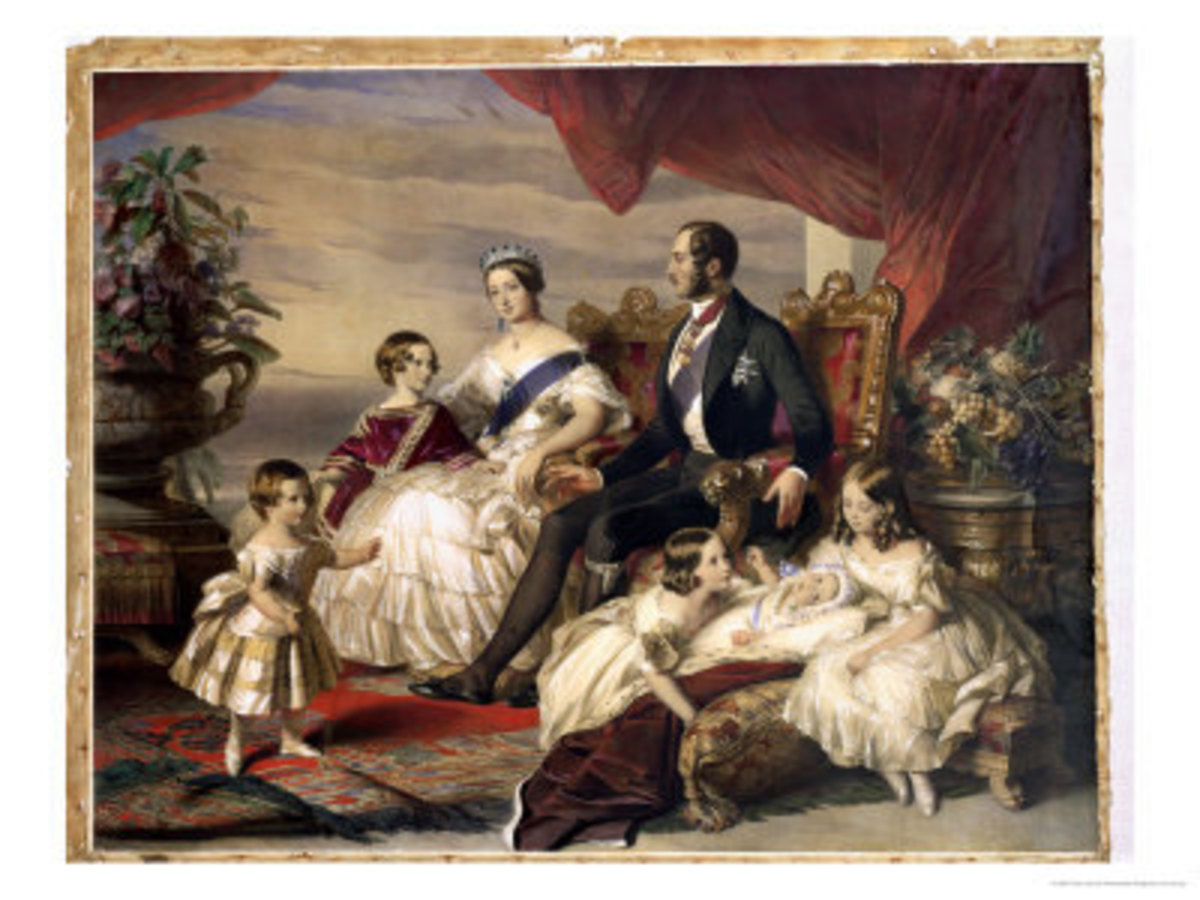 Queen Victoria, Prince Albert & five of their children in 1846 - available as a print