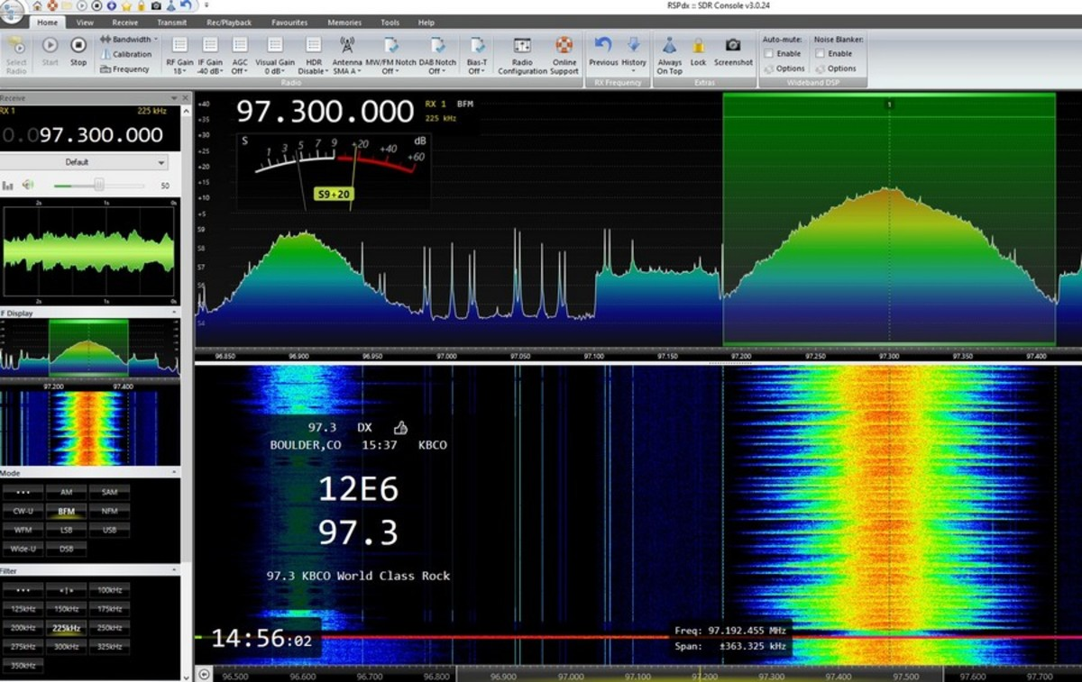SDR Console with RDS display