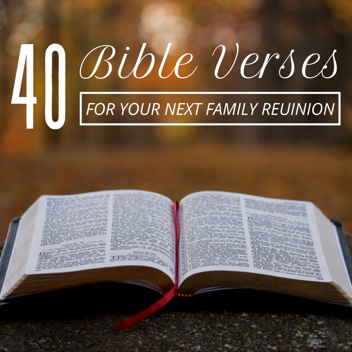 40 Bible Quotes for Your Family Reunion