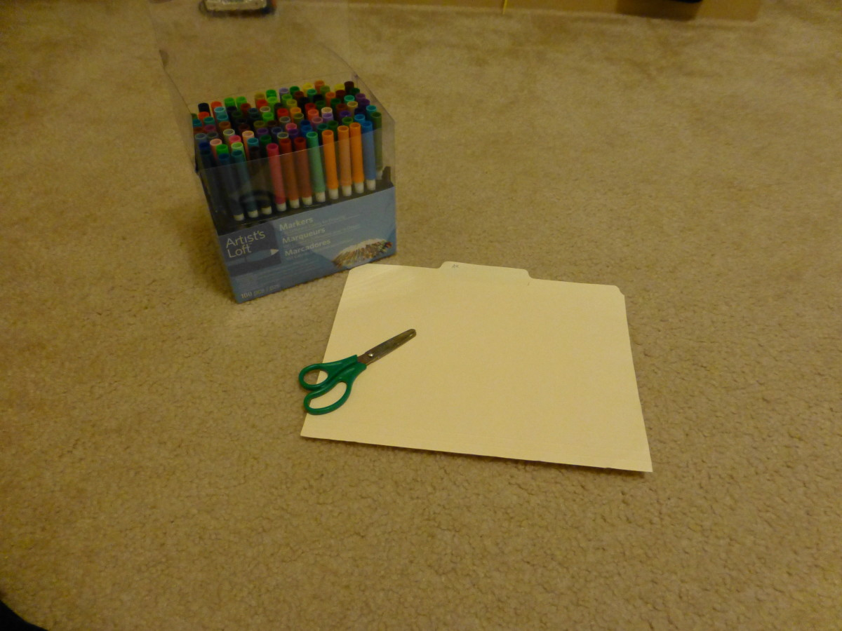 Start with scissors, thin cardboard or cardstock, and markers or colored pencils.