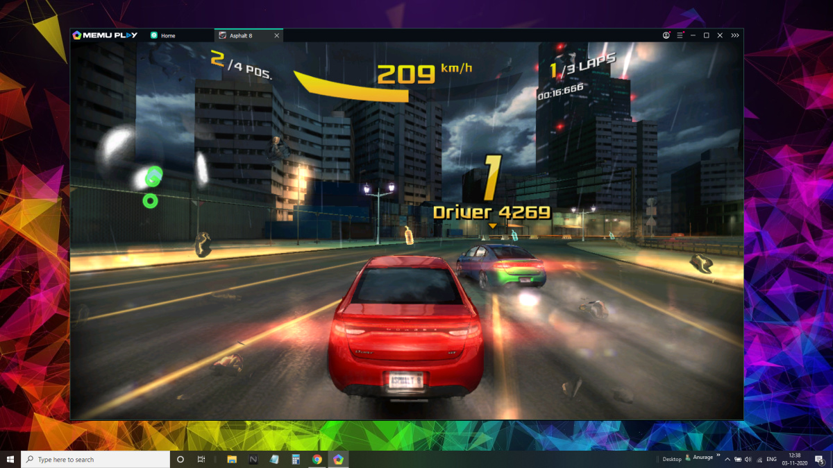 Playing Asphalt 8 on MeMuPlay