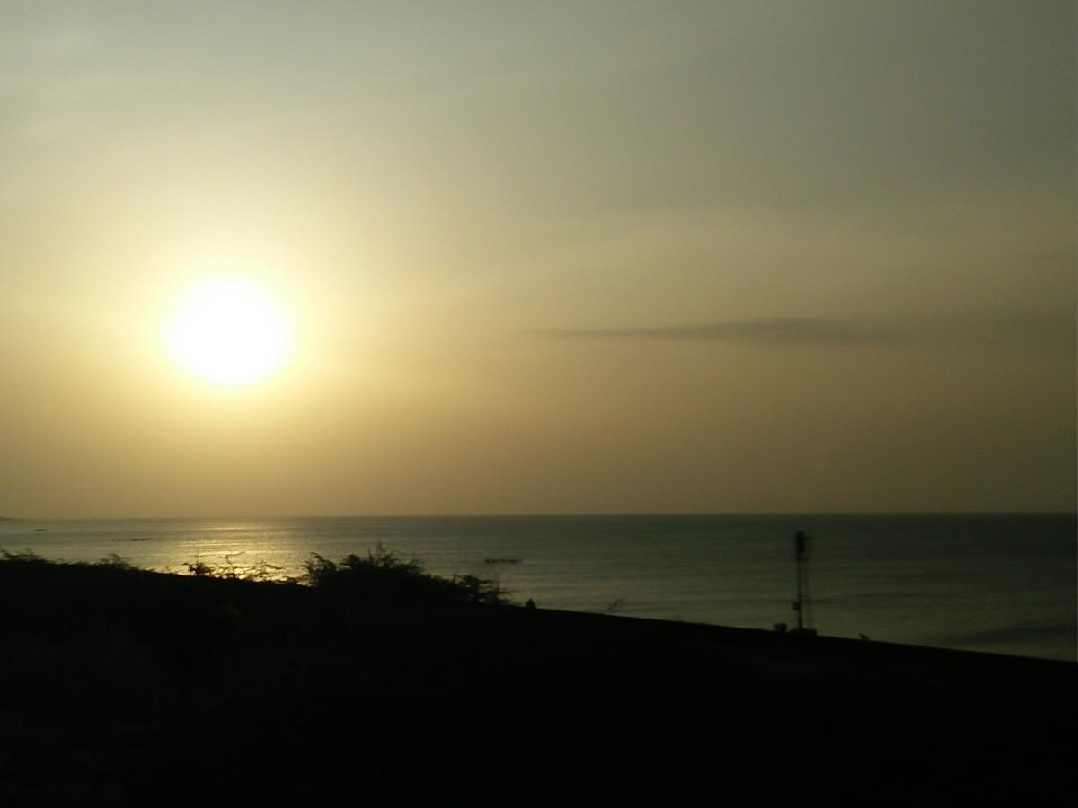 sun set near Pamban bridge, Rameswaram