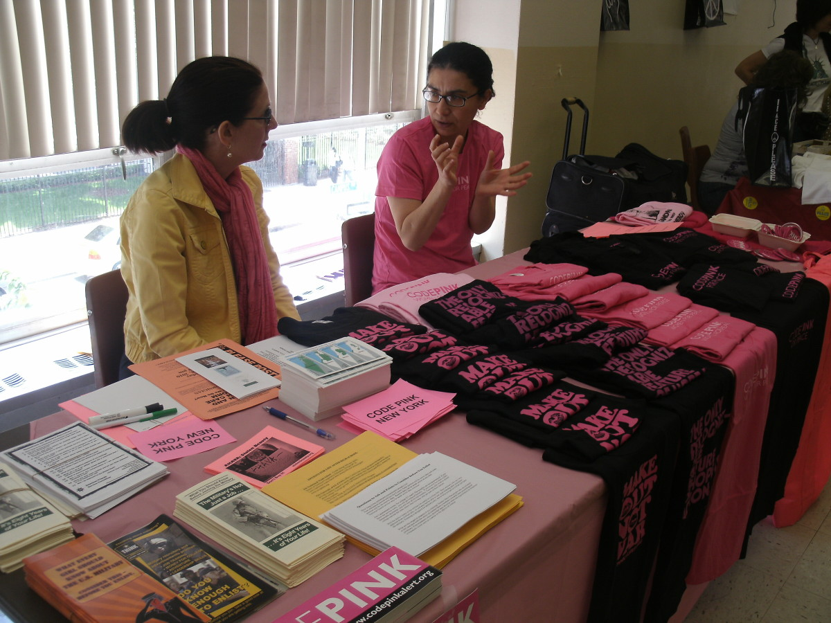 CODE PINK table