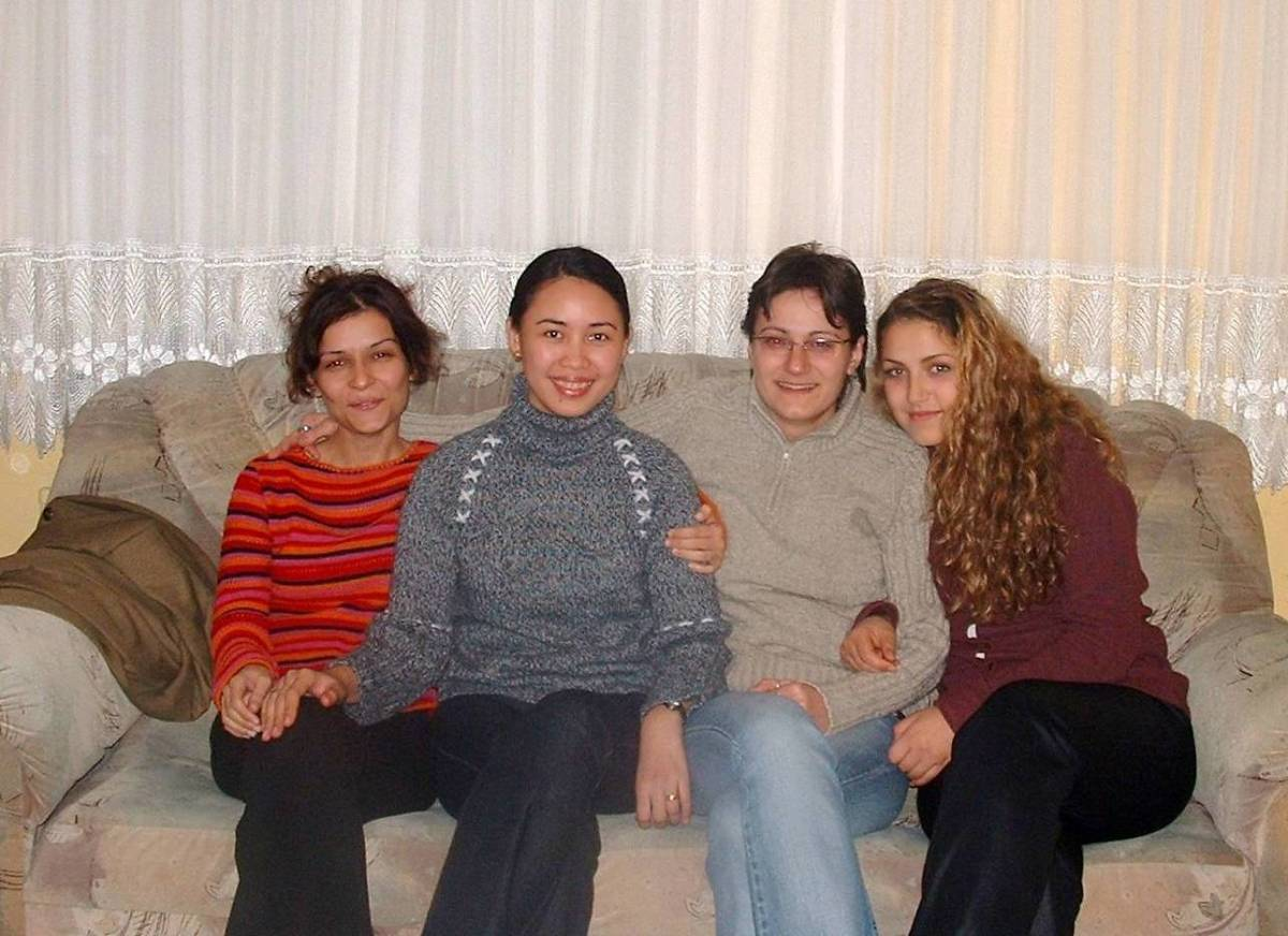 Some Turkish people may be a mixture of European and Asian descent and yet they are blending well with each other.