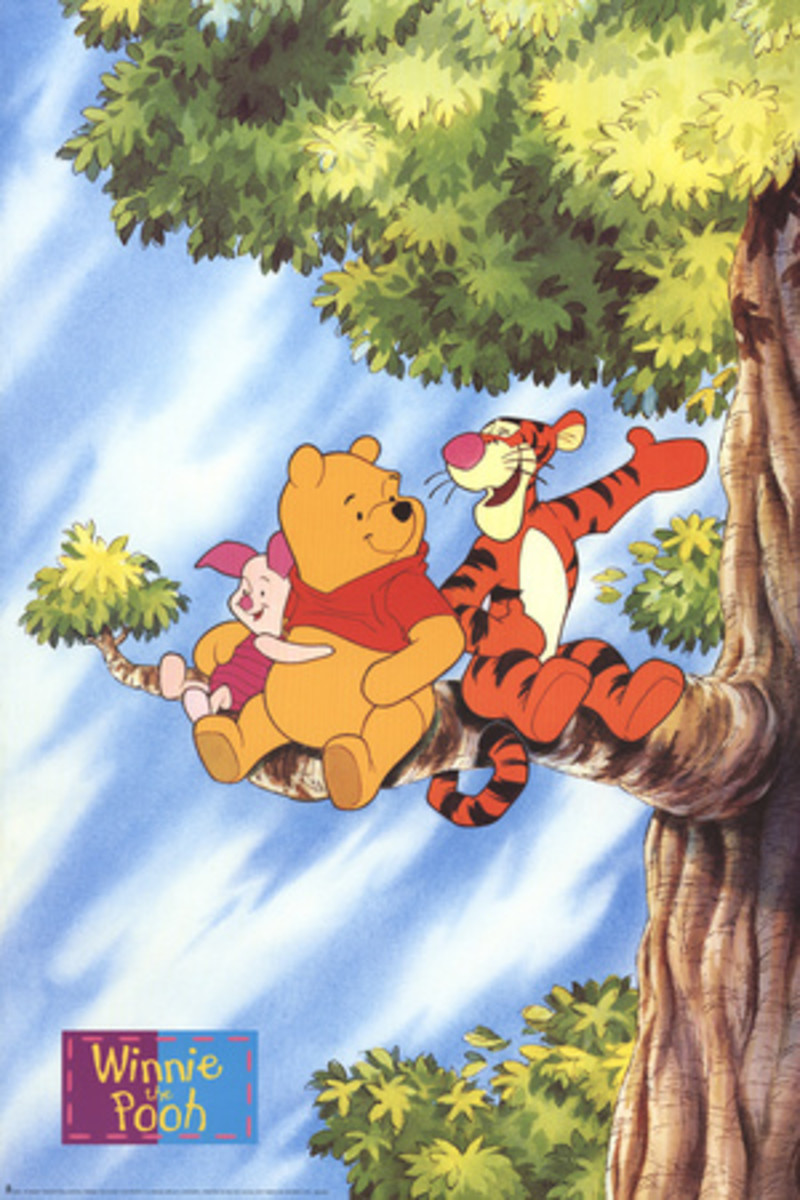 Winnie the Pooh, Tigger and Piglet in a Tree