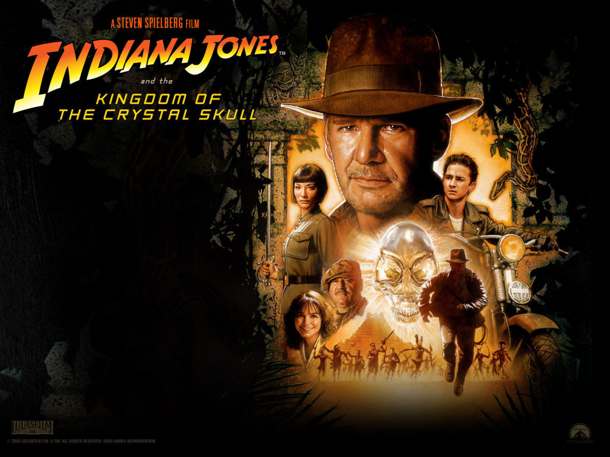 """Promotional poster for """"Indiana Jones And The Kingdom Of The Crystal Skull"""""""