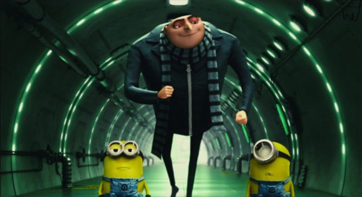 The film doesn't let the minions dominate the picture, allowing characters like Gru (centre) to flourish