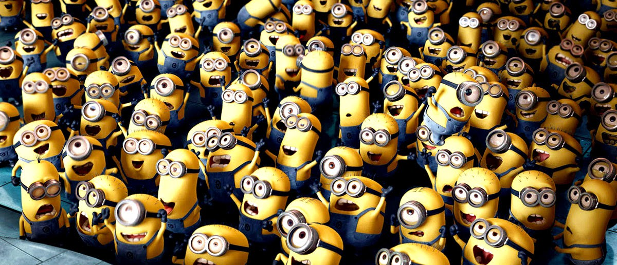 "The Minions, biding their time until their own movie would overshadow ""Despicable Me""..."