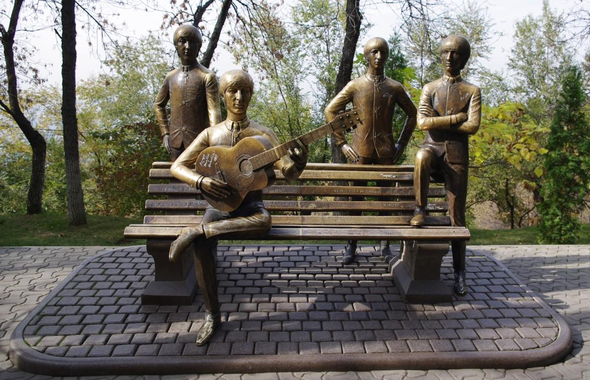 The Beatles on Kok Tobe, or Green Hill, in Almaty, Kazakhstan