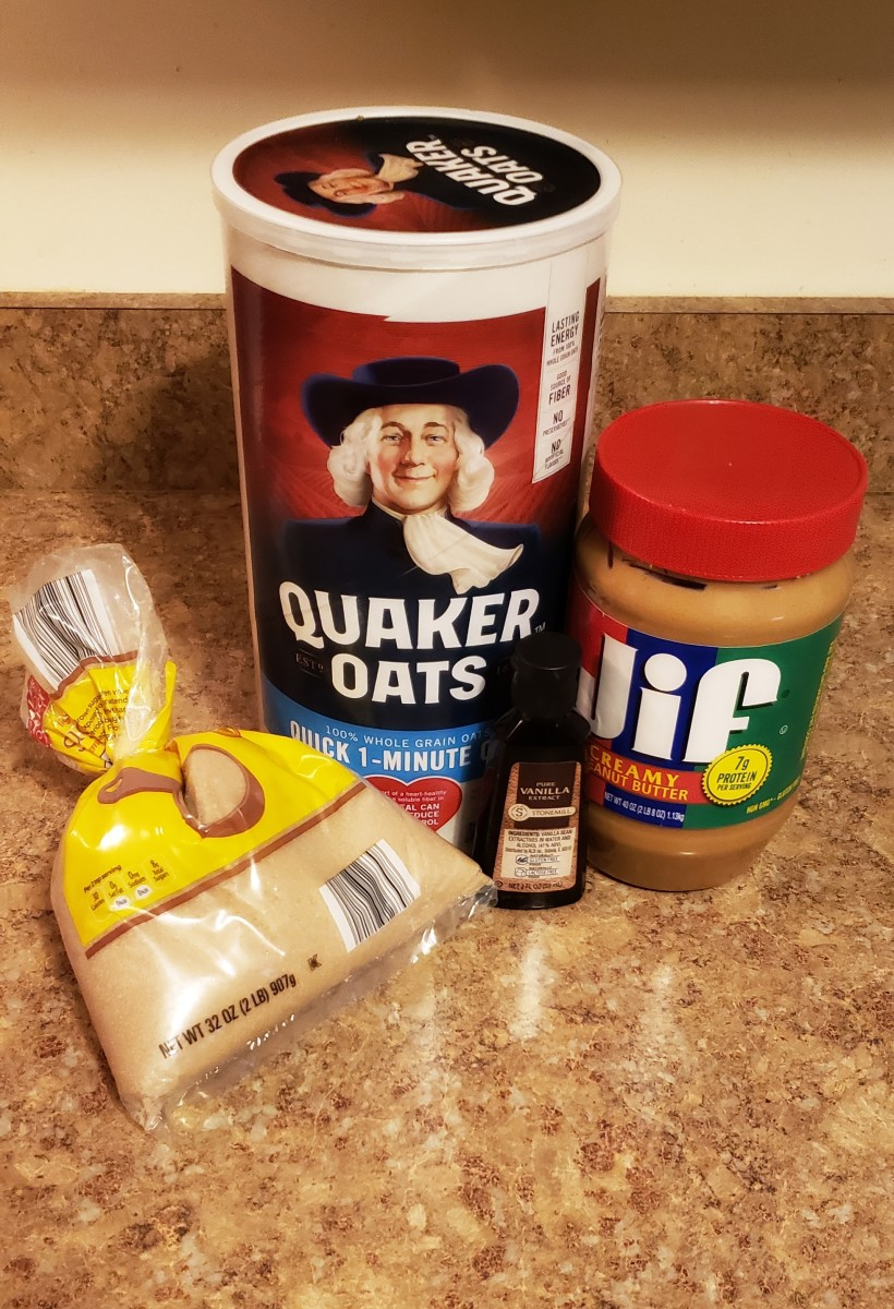 Ingredients needed for easy peanut butter granola