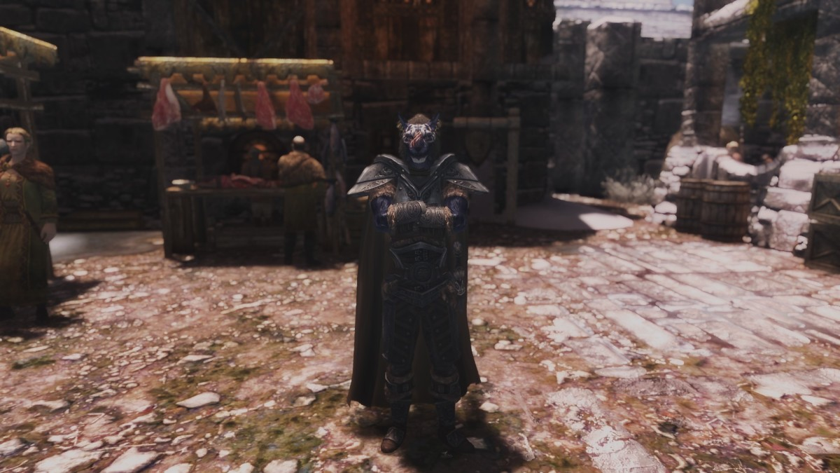 Inigo stands angrily in Windhelm.
