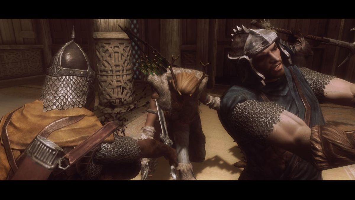 My old Nord character storms Whiterun with Ralof.