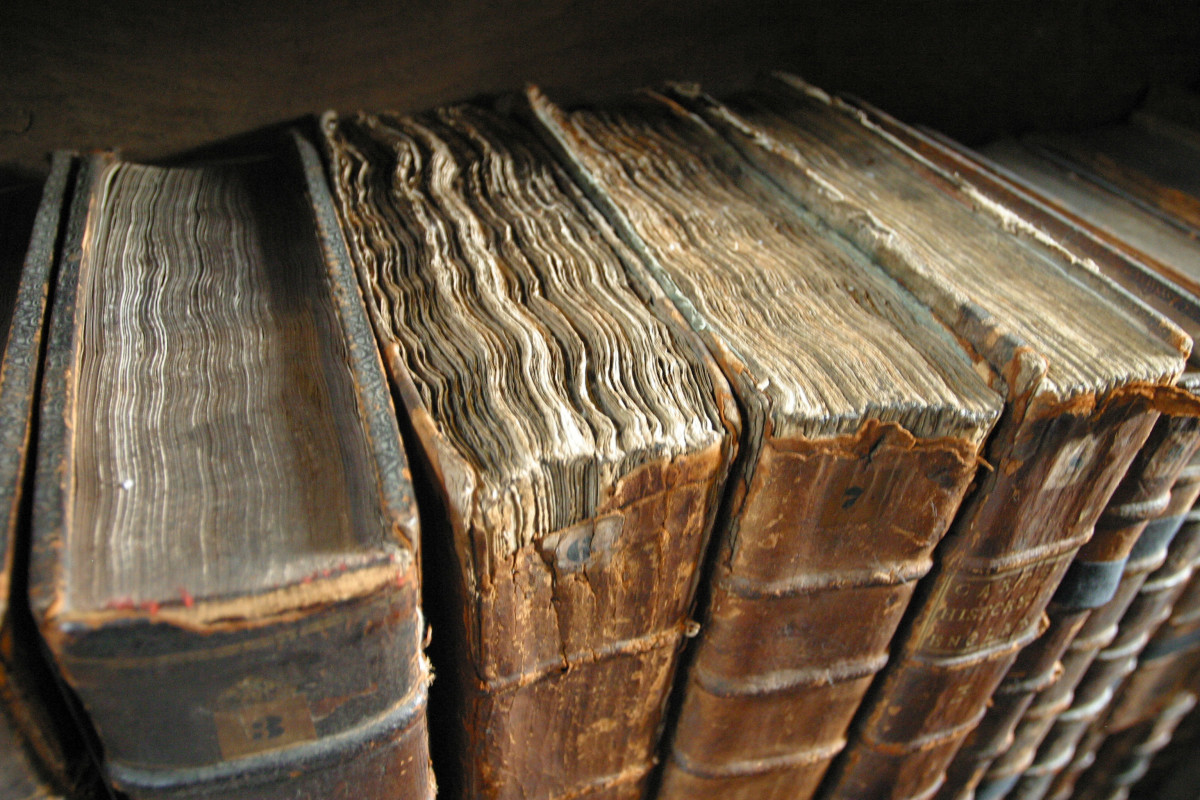 Old Book Bindings at the Merton College Library photographed by Tom Murphy VII