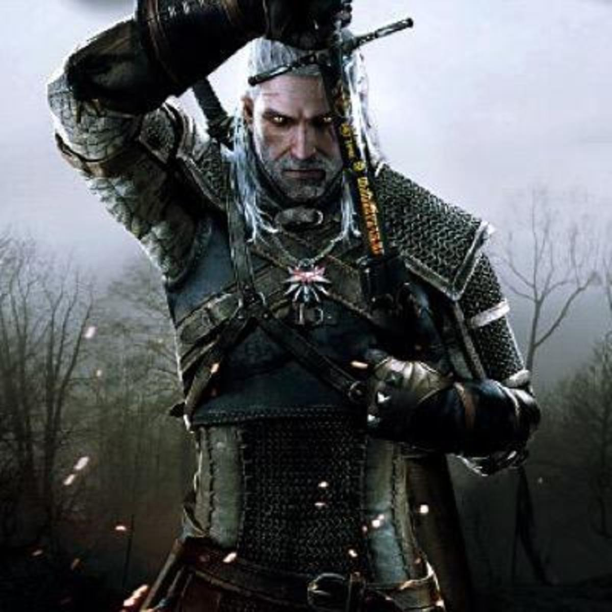 Geralt of Rivia, the Witcher from Sapkowski's novels and short stories.