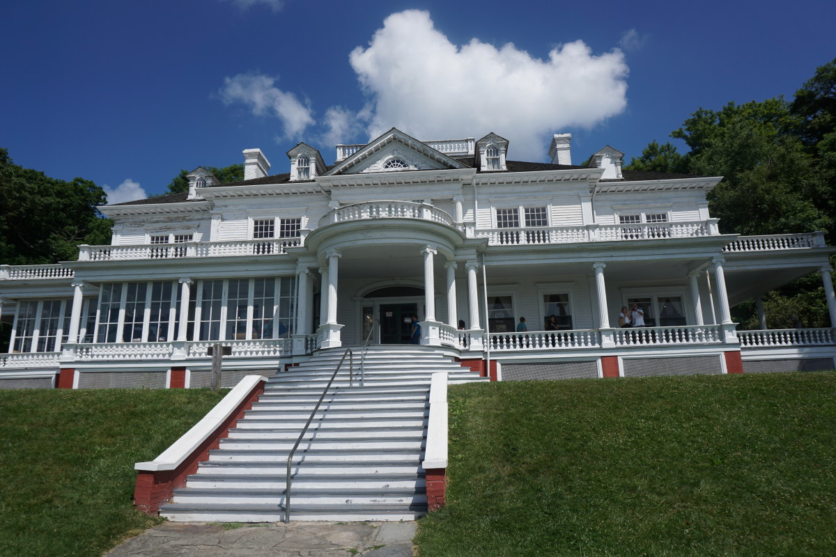 Another view of the front of Manor.