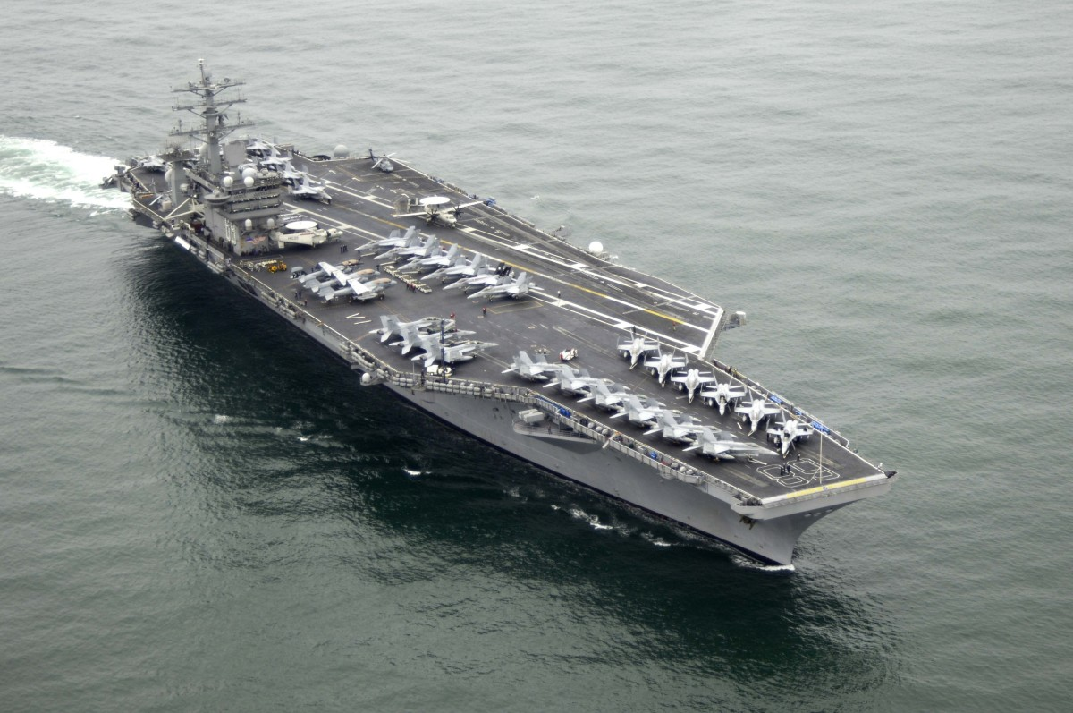 This is probably the aircraft carrier Jesus should land on