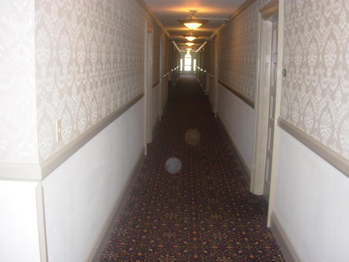 This picture was taken in the Stanley Hotel in Estes Park, CO on 4/15/07 by  Greg Jeffers. Credit to Greg Jeffers for this photo. This picture is of Orbs in the hallway at the Stanley Hotel