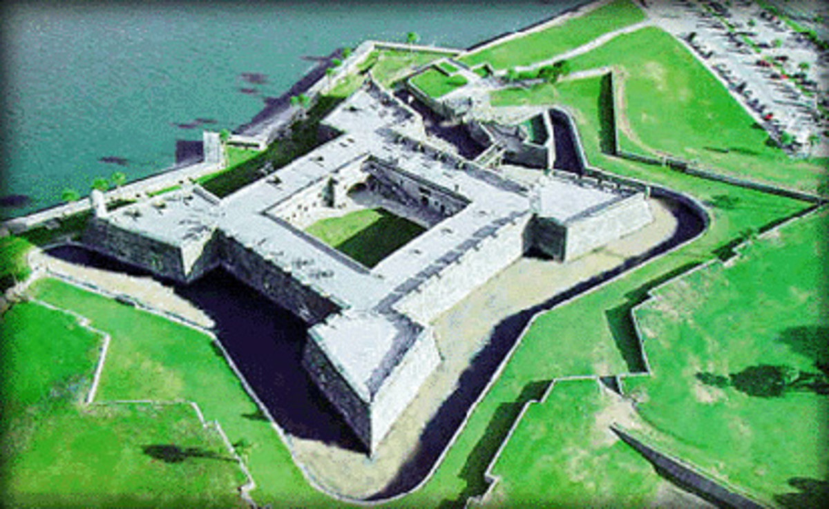 Castillo de San Marcoss Aerial View St Augestine Florida