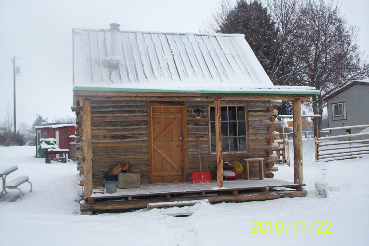 How to build a log cabin from free forest products for How to build an a frame cabin