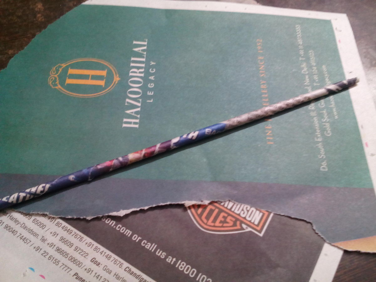 Newspaper bamboo sticks just like straws