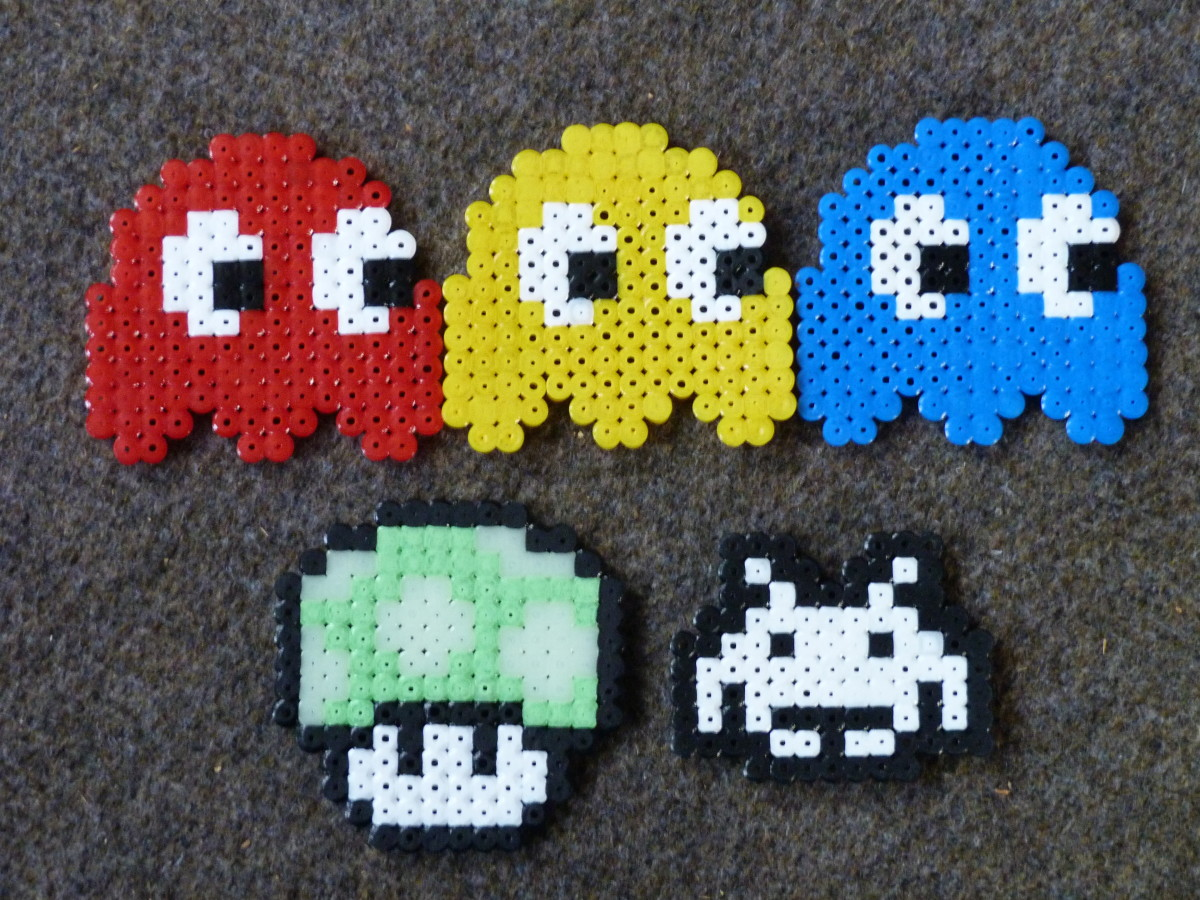 How to Make Pacman Ghosts & More -  Hama Beads Tutorial