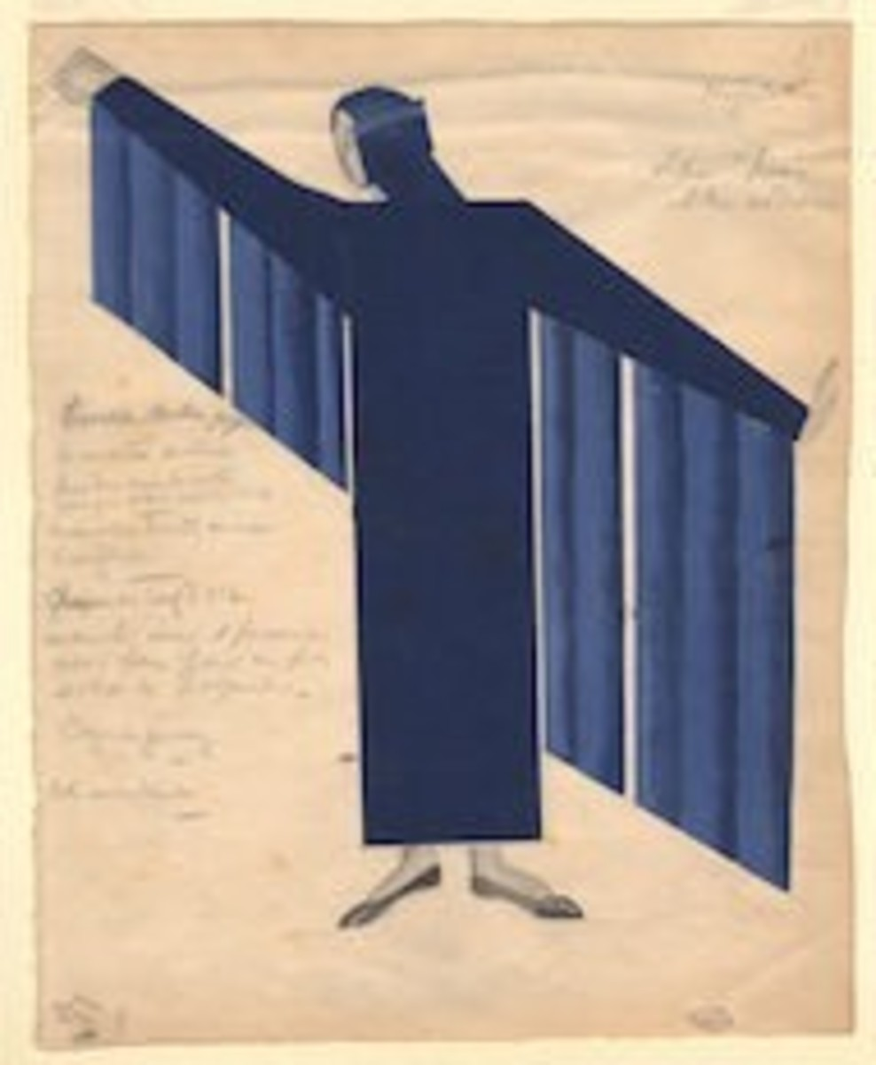 Natalia Goncharova's color costume design for Night on the Bare Mountain