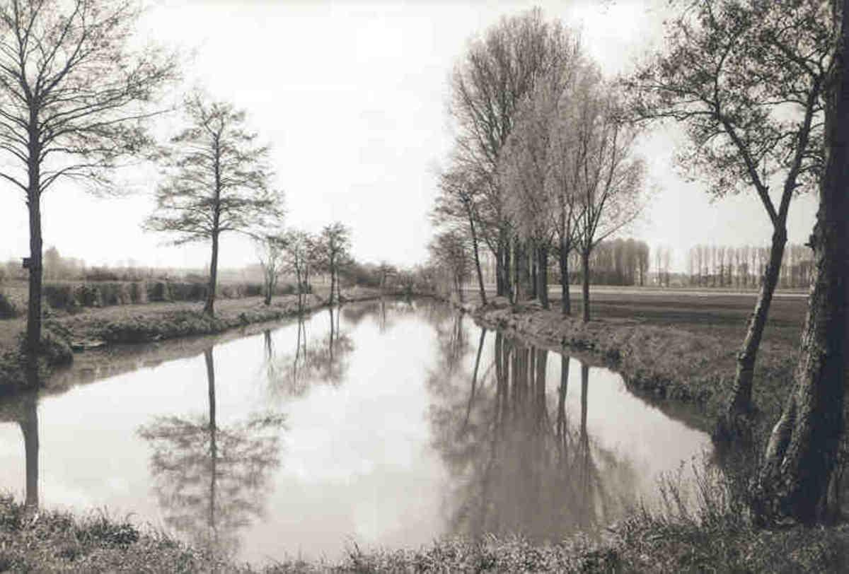 Water-filled trench near Geilenkirchen.