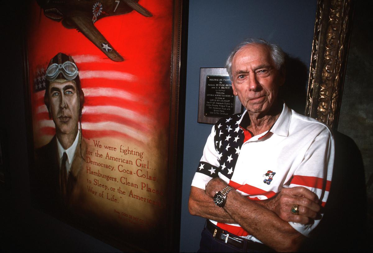 General Robert Lee Scott at the Museum of Aviation