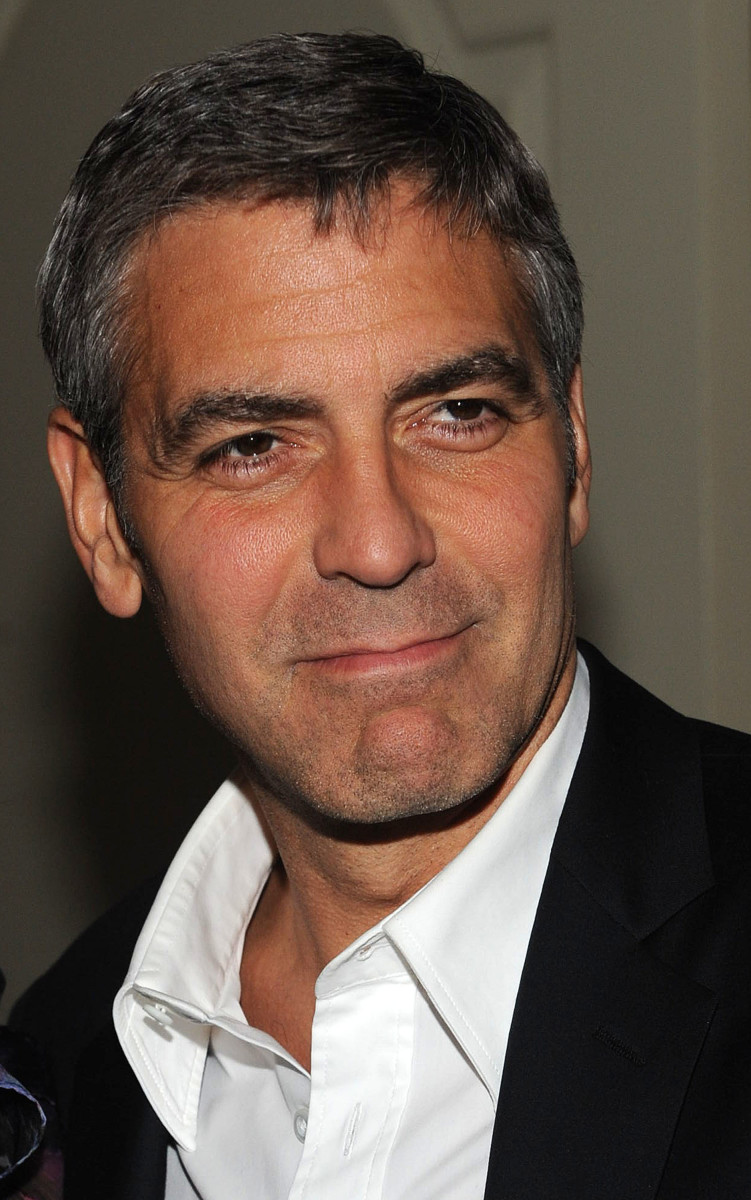 George Clooney, 52, wears his hair short and neat.  Easy to manage but very stylish. - 2013 Hairstyles for Men Short Medium Long Hair Styles Haircuts, by Rosie2010