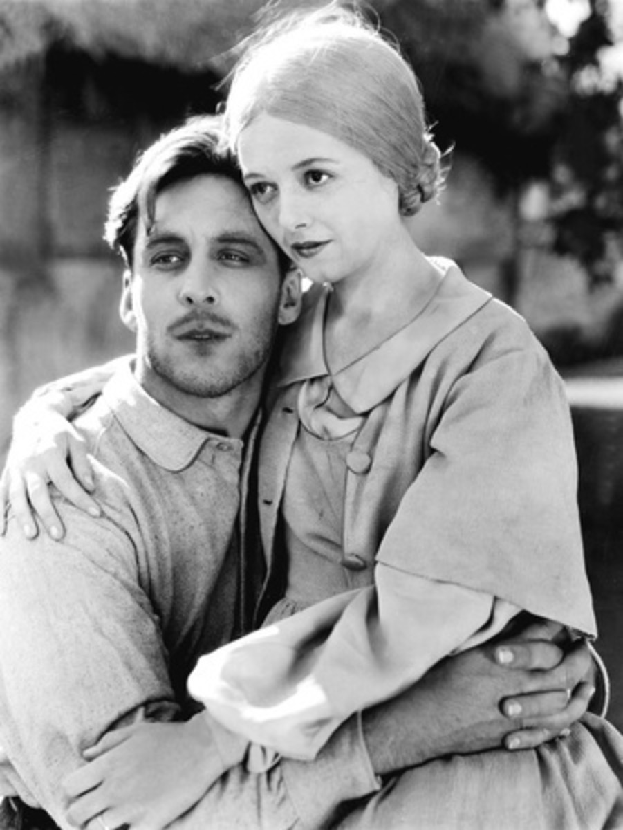 """George O'Brien and Janet Gaynor in """"Sunrise"""""""