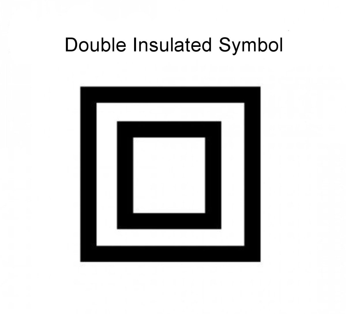 Double insulated appliances are marked with this symbol.