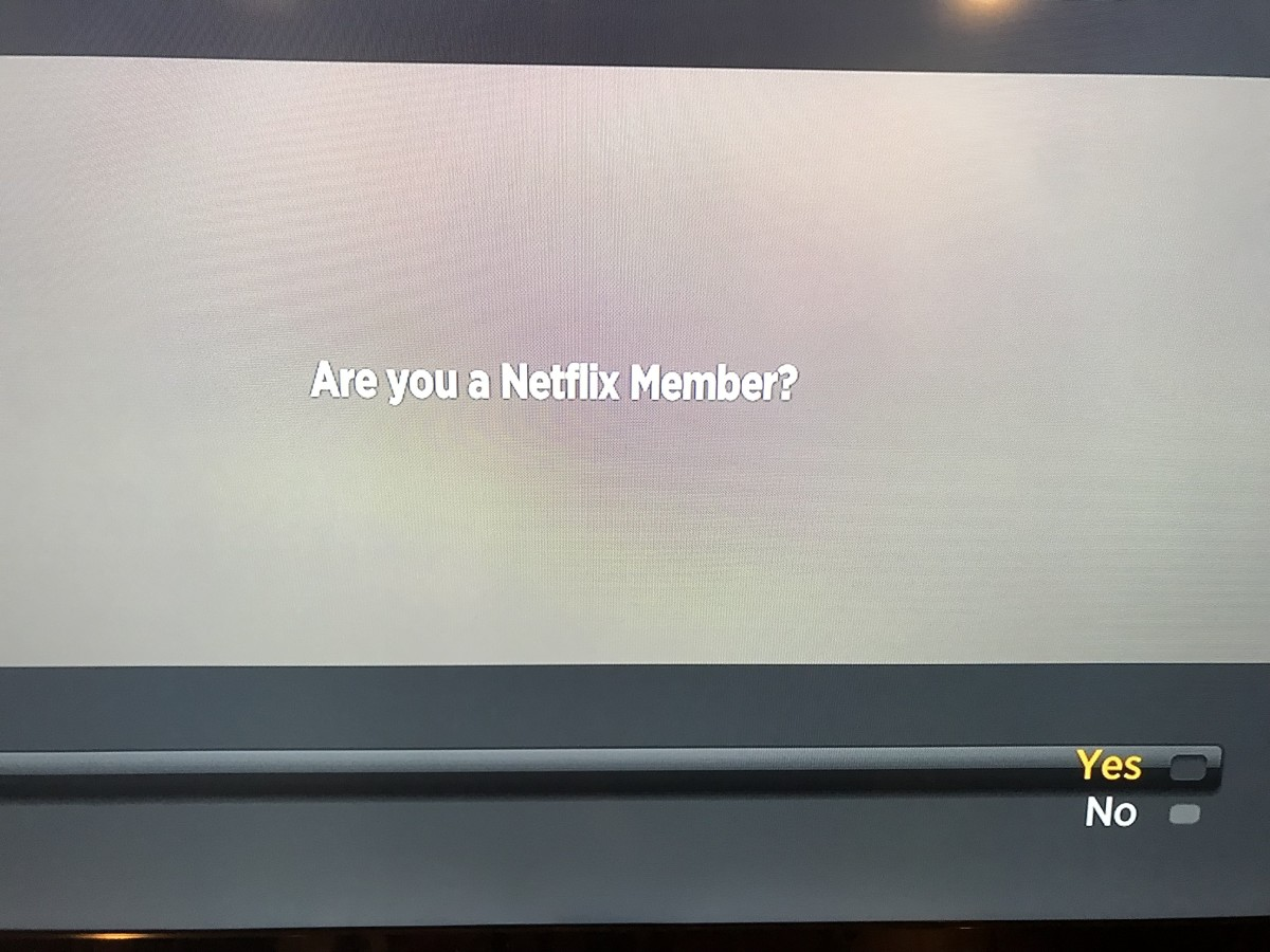 """Choose """"Yes"""" in the screen that appears asking if you're a Netflix member."""