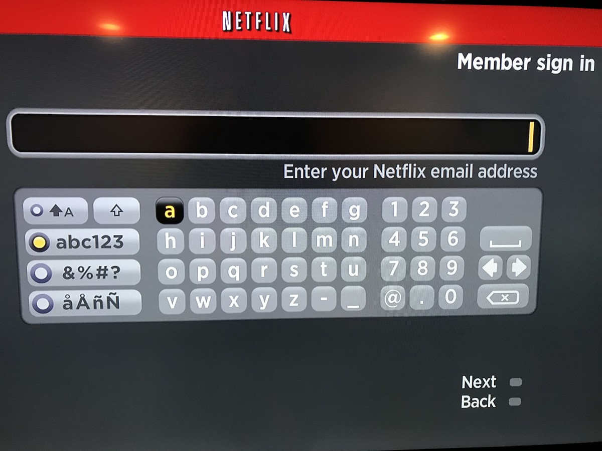 """Enter your Netflix member name when prompted, and then choose """"Next."""""""