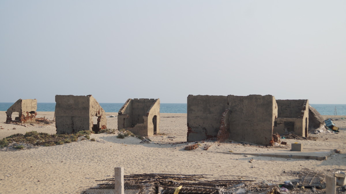 Remains of a township