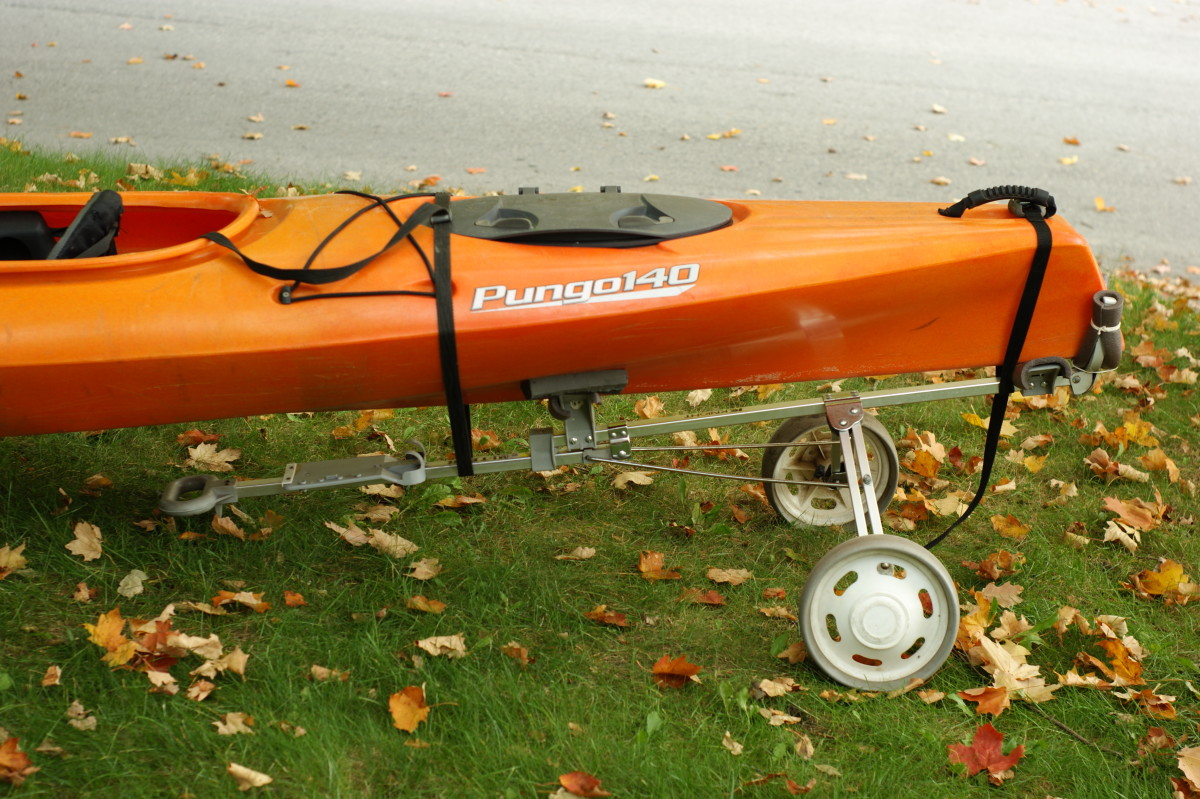 How to Make a Kayak Cart Out of a Golf Bag Cart