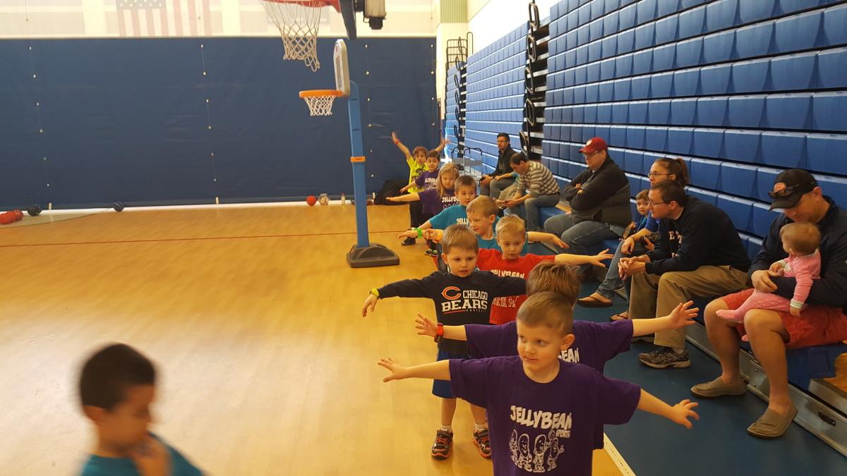Children practice defense Scarecrow Arms