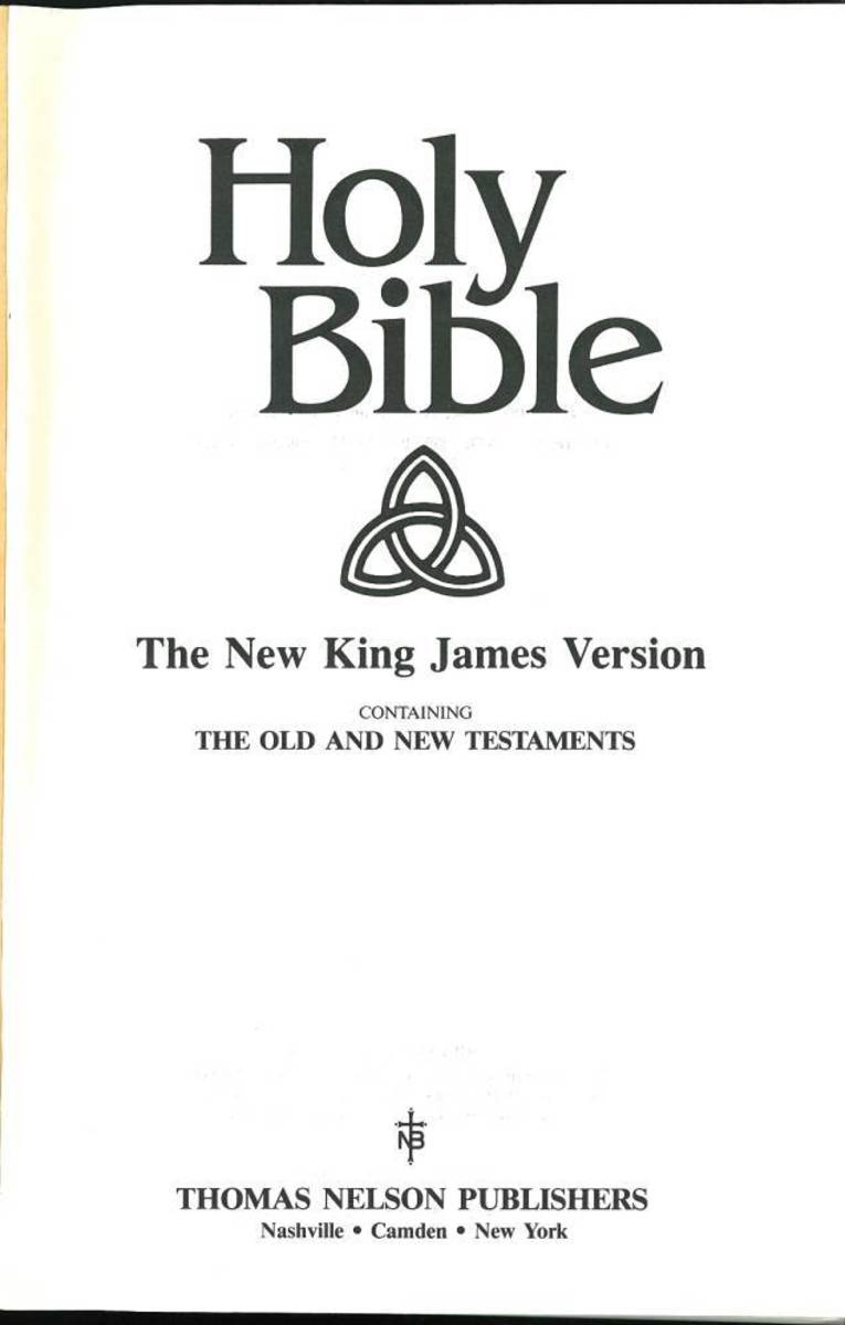 You can see the satanic symbol either on the outside of the NKJV bibles or the first page.