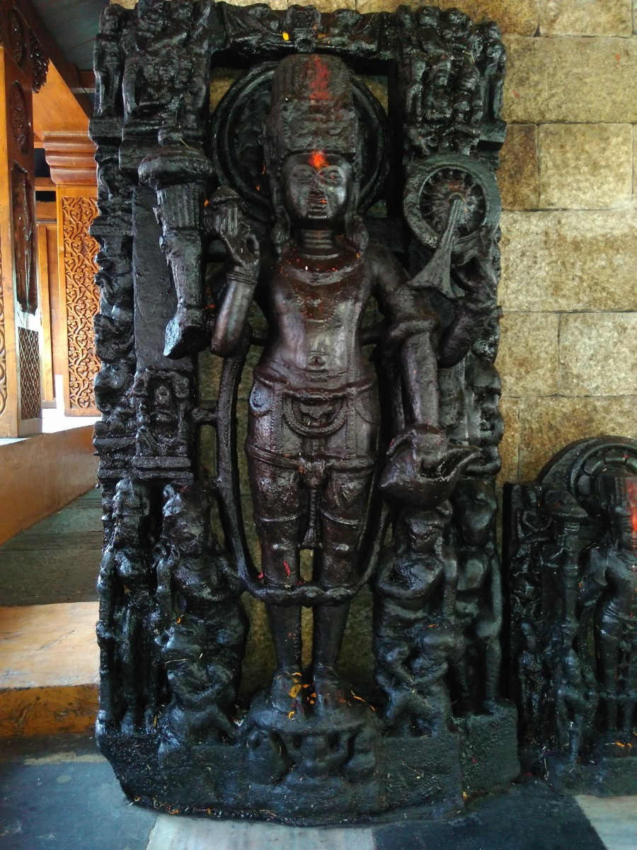 Wooden carved image at Shiv Temple Kasogh