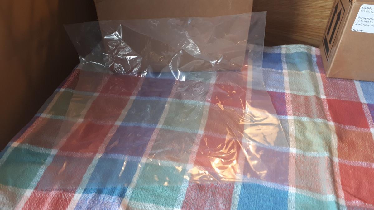 A see-through bag.