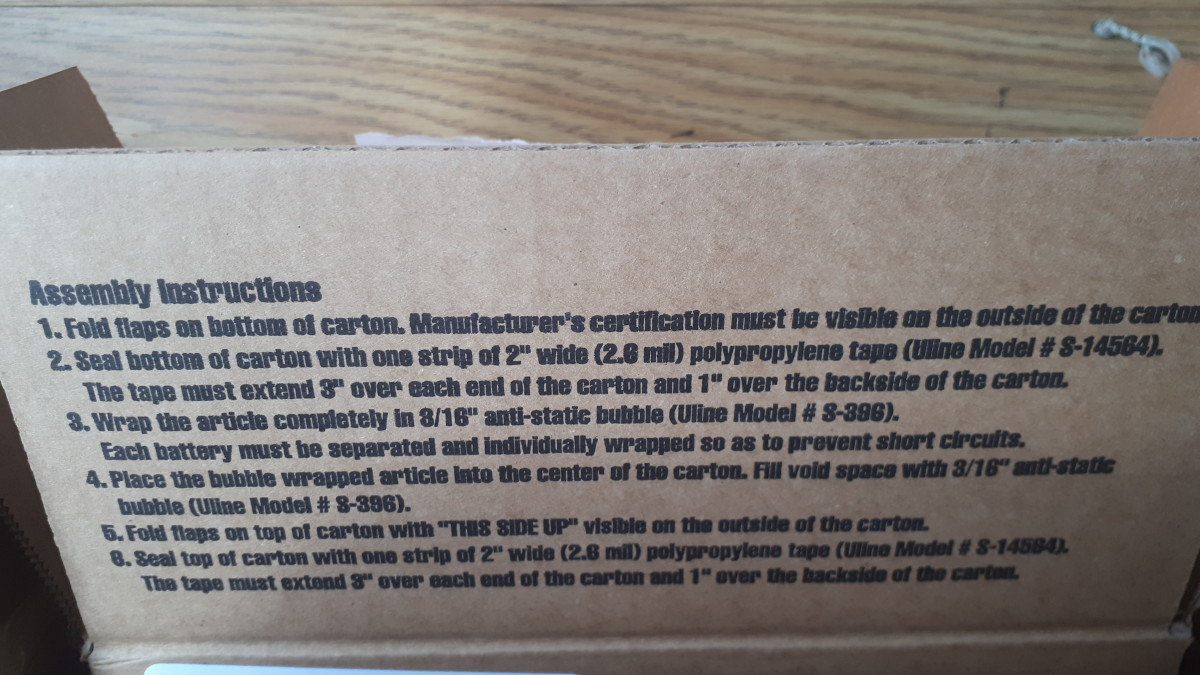 Instructions on the box.
