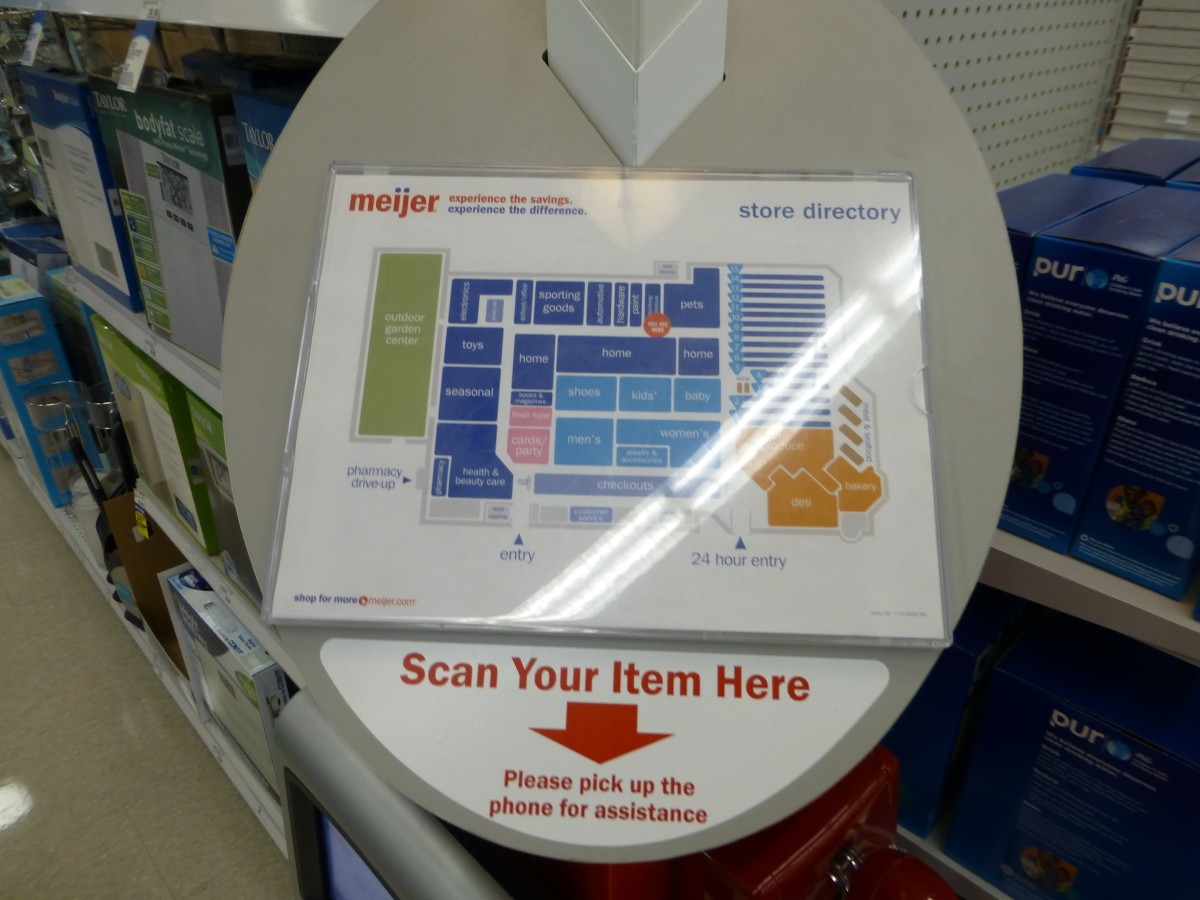 Multiple price scanners are conveniently located around every Target store.
